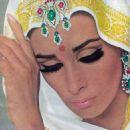 Wilhelmina Cooper in an ad for Trifari Jewelry