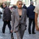 Stella Maxwell – Out for a stroll during Milan Fashion Week in Milan