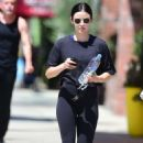 Lucy Hale – Goes to the gym in Studio City