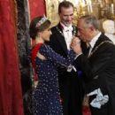 King Felipe and Letizia host a dinner for Portuguese president - 454 x 313