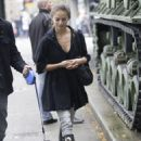 Kristin Kreuk - Out and about with her dog and an unidentified creature in Vancouver - November 12, 2010
