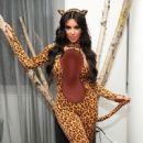Kim Kardashian's Halloween Costume Modeling Session