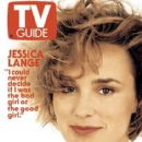 Jessica Lange - TV Guide Magazine Cover [United States] (1 February 1992)