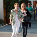 Lindsay Lohan Walking Her Bulldog On Larmont Avenue In Hollywood, 2008-08-18