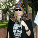 """Ke$ha wears quite the peculiar outfit while walking up to Nova Radio Studio to promote her new album entitled """"Animal"""""""