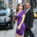 Salma Hayek at  The Late Show with David Letterman June 21 2010