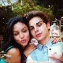 Jake T. Austin and Bianca A. Santos