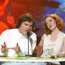 Jack Black and Rose McGowan attends The Teen Choice Awards 2002