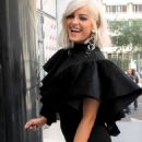Bebe Rexha in Black Outfit – Out in Paris - 454 x 681