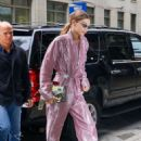 Gigi Hadid in Pink Jumpsuit – Out in New York
