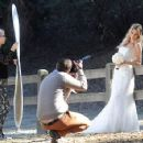Brandi Glanville gives new meaning to the term 'blushing bride' as a series of  mishaps mar her bridal shoot - 454 x 355