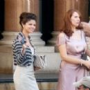 Selena Gomez and Catherine Tate Filming ''Monte Carlo'' Outside The Hotel De Paris July 1, 2010
