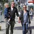 Rebecca Gayheart and Eric Dane have a lunch date with their 3 year-old daughter Billie in Los Angeles