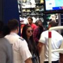 Selena Gomez & Justin Bieber were seen  at the Eaton Centre on Saturday September 6 in Toronto, Canada