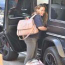 Hilary Duff with her newborn daughter in Studio City