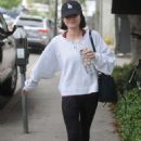 Lucy Hale heading to the gym in Los Angeles