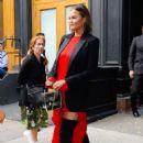 Chrissy Teigen – Leaving her house in New York