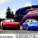 McQueen (voiced by Owen Wilson) and Sally (voiced by Bonnie Hunt) in Buena Vista Pictures Distribution's Cars - 2006