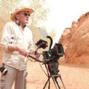 Director Danny Boyle on the set of 127 HOURS. Photo Credit: Chuck Zlotnick