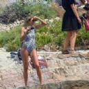 Jessica Hart in Blue Bikini – On a Photoshoot Cannes - 454 x 303
