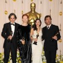 Daniel Day-Lewis, Tilda Swinton, Marion Cotillard and Javier Bardem At The 80th Annual Academy Awards (2008) - 321 x 458