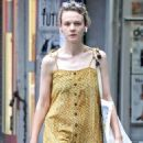Carey Mulligan in Yellow Summer Dress – Out in NYC - 454 x 679