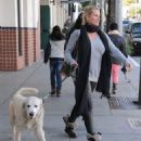 Nicollette Sheridan spotted out with her dog in Beverly Hills, California on January 7, 2016 - 454 x 546