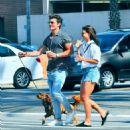 July 25, 2017 - Danielle Campbell and Gregg Sulkin out and about in Los Angeles, CA - 454 x 501