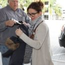 Tina Fey departing on a flight at LAX airport in Los Angeles, California on January 12, 2015