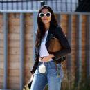 Jessica Gomes – Arriving at a friend's Memorial Day barbecue in LA - 454 x 543