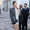Adriana Lima – Arriving at Vogue Dinner Party in Paris