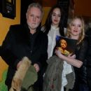 """Roger Taylor, daughter Lola, and Sarina's baby sister Geneviene Potgieter at the """"Let It Be"""" Gala Night at the Savoy Theatre in London, Feb. 13 2013"""
