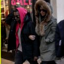 Amber Rose and Kanye West at The Grove in Los Angeles, California - December 27, 2009