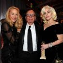 Still going strong! Jerry Hall, 59, hits the Golden Globes red carpet on the arm of 84-year-old Rupert Murdoch - three months after it was revealed they are dating - 11 Jan 2016 - 454 x 388