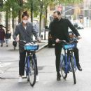 Katie Holmes and boyfriend Emilio Vitolo – Seen biking in New York