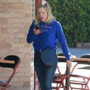 Kristen Bell at Little Dom's Restaurant in LA
