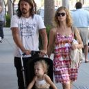 Dave Grohl and his wife Jordyn Blum take their daughter Violet out shopping in Beverly Hills - 378 x 594
