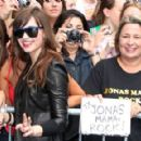 Demi Lovato Poses With Fans Outside Of Good Morning America. Demi Was The Opening Act For The Jonas Brothers, 2008-08-11