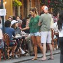 Kelly Bensimon in Cut-offs out in NYC - 454 x 454