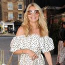 Tess Daly – Seen at Chiltern Firehouse in London - 454 x 620