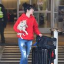 Krysten Ritter with her dog at LAX Airport in LA - 454 x 629
