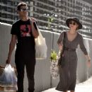 Sarah Hyland and Wells Adams – Shopping at Farmer's Market in Los Angeles