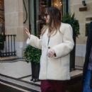 Dakota Johnson at her hotel in Paris