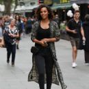 Rochelle Humes – Leaves Global Radio in London - 454 x 586