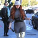 Phoebe Price in Silver Knee-High Boots – Out in Beverly Hills - 454 x 681