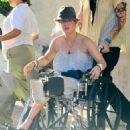Kaley Cuoco - Out Shopping In A Wheelchair In Los Angeles - September 27, 2010