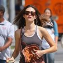 Emmy Rossum - Grabs A Starbucks After Going To The Gym In The East Village - August 13, 2010