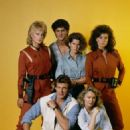 "Jane Badler as Diana, Marc Singer as Mike Donovan, Faye Grant as Dr. Julie Parrish in the original ""V"" series"