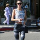 Alessandra Ambrosio Leaving A Gym After A Work Out In Brentwood