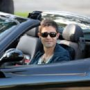 "Adrian Grenier Looks Every Part The Hollywood Star As He Films Scene For His Hit TV Show ""Entourage"" While Driving A Ferrari Around Beverly Hills"